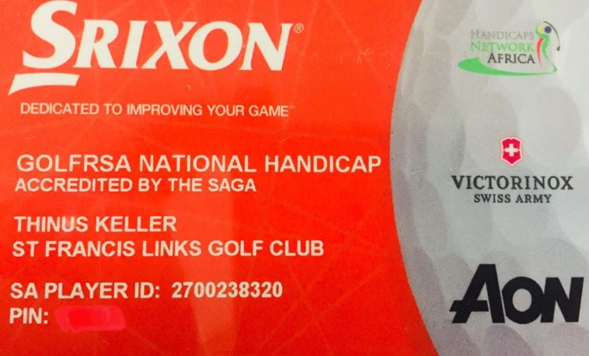 Handicap card